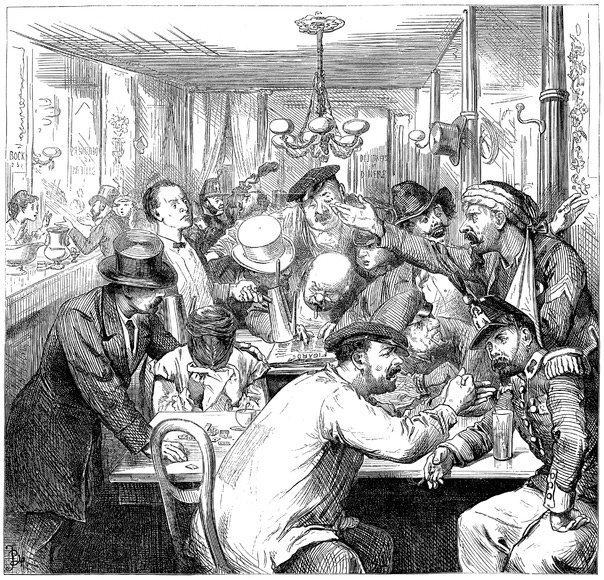 Обсуждение франко-прусской войны в парижской кофейне – блог обжарщиков Torrefacto