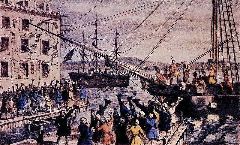 Бостонское чаепитие, литография, 1846 г. – блог обжарщиков Torrefacto
